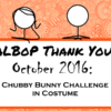 Halloween Chubby Bunny ~ October Patreon Thank You Video